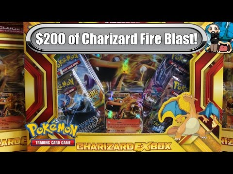 Opening 10x Charizard EX Boxes! New Fire Blast Box! $200 worth - Pokemon TCG unboxing