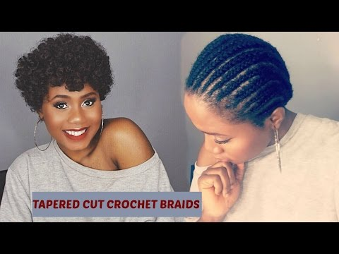 Easy Natural Looking Tapered Cut Crochet Braids Using Curlkalon Hair Collection