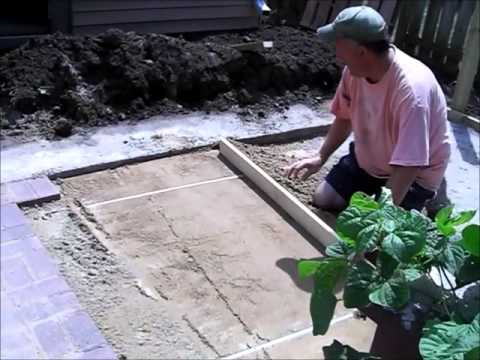 How to Build a Brick Paver Patio part 3