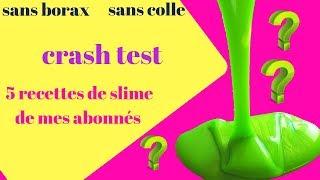 Test Slime Avec Bâtons De Colle