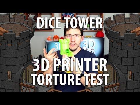 3D Printing a Dice Tower - 3D Printer Torture Test