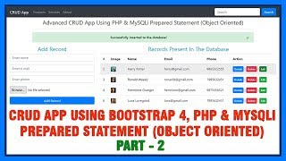 01 Advanced CRUD App Using Bootstrap 4, PHP & MySQLi Prepared