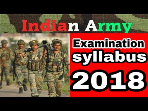 Indian army open Bharati rally examination syllabus for   2018.....all India...