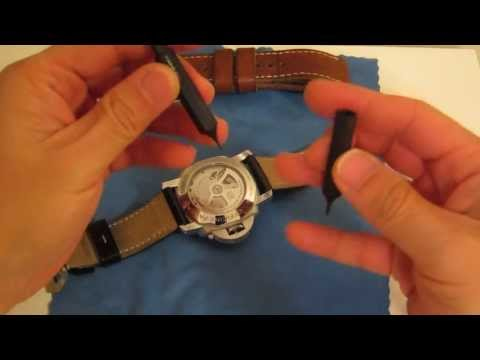 Changing a strap on a Panerai