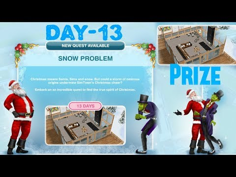 Simsfreeplay - Snow Problem Quest Day - 13 Christmas Holiday Update 2017