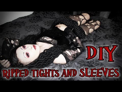 Goth DIY - Ripped Tights and Sleeves | Toxic Tears