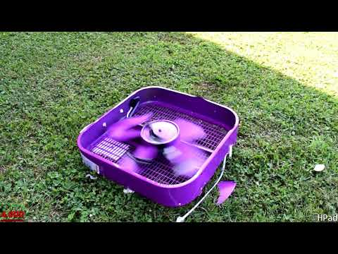 New Purple Lasko Box Fan Destruction