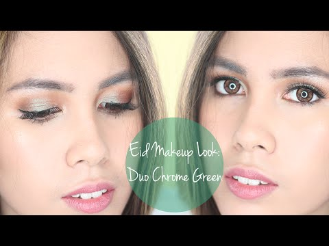 Eid Makeup Look #2   Green Duo Chrome   Too Faced Everything Nice Palette   Rustyshoes92