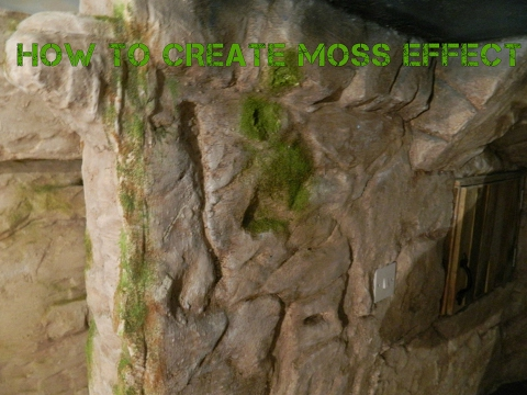 how to create moss effect on fake rock
