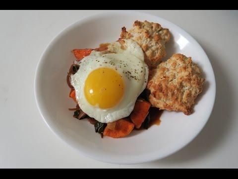 Sweet Potato & Collard Green Hash Breakfast