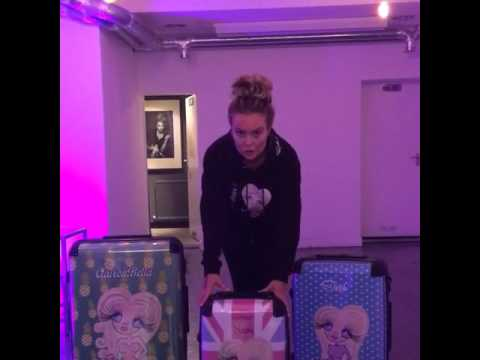 The difference in size between my ClaireaBella suitcases - small medium & large