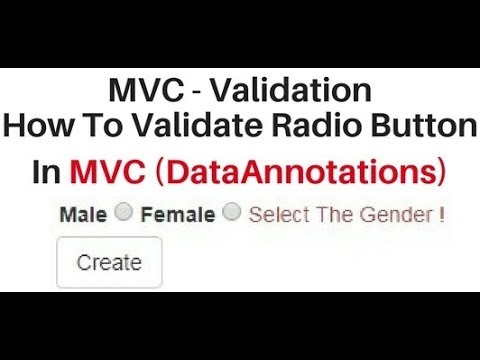 MVC client side validation data annotation radio button