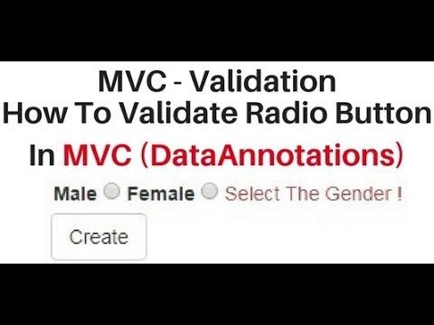 MVC client side validation data annotation radio button