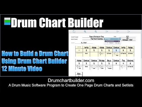How to Build a Drum Chart Using Drum Chart Builder Software Program