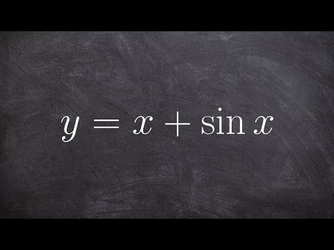 Calculus - Find the point where their exist a horizontal tangent line, y = x + sinx
