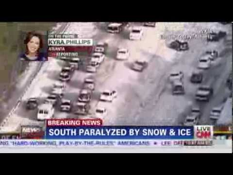 Atlanta screwed up and Shutdown, Chaos everywhere after Winter Storm
