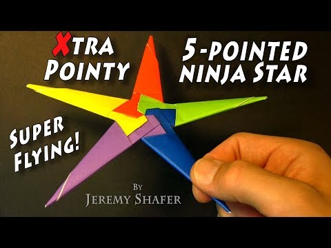 Origami Extra Pointy Five Pointed Ninja Star