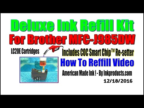 Ink Refill Kit For Brother MFC J985DW Printer, LC20E Cartridges