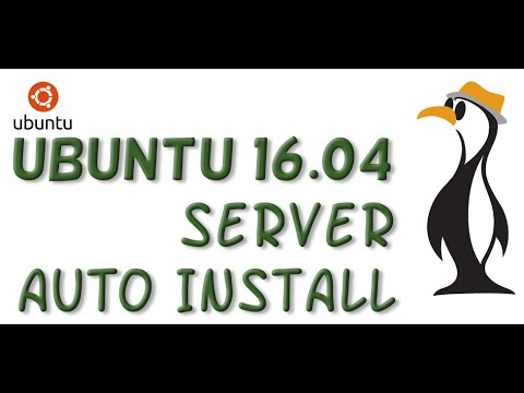 Ubuntu 1604: Auto-Install from preeseed file