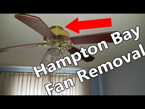 How To Remove Hampton Bay Ceiling Fan No Screws