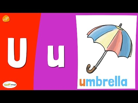 Letter U Practice - Phonics and Vocabulary - Think Read Write - Kids Learning
