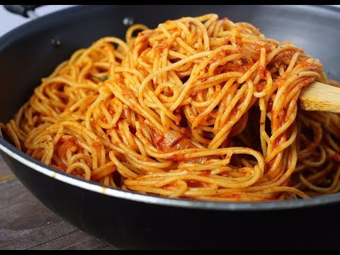 How to make jollof spaghetti with corned beef