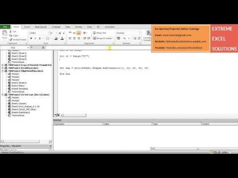 Excel Tutorial : Adding shapes using VBA macro