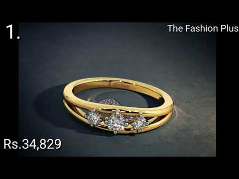 Engagement Gold Ring Designs With Price from Bluestone