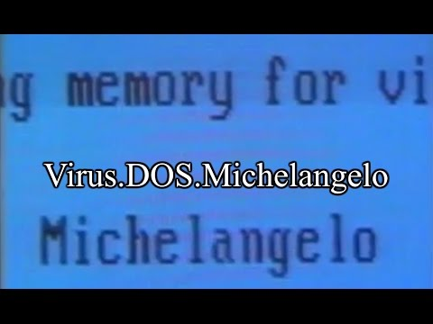 Virus.DOS.Michelangelo (25 years later)