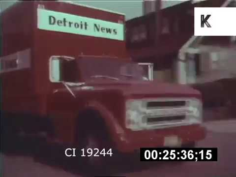 1970s Detroit Newspaper Trucks And Paper Boys, GVS Detroit | Kinolibrary