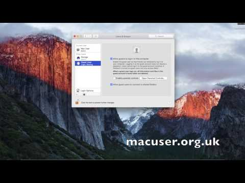 How to turn the guest user turning on and off on a Mac