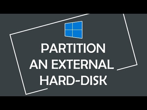 How to Partition an External Hard Disk in Windows