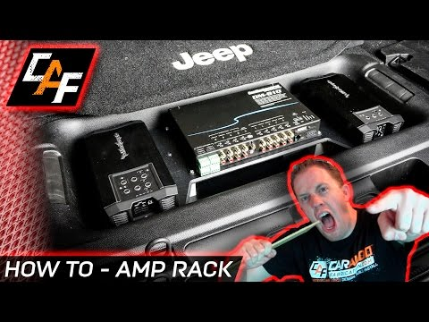 EXTREMELY CLEAN Amp Rack Install - How to - CarAudioFabrication