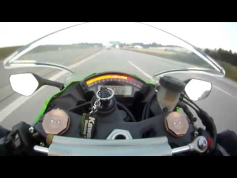Biker Gets Passed By Car At 299 KM/H