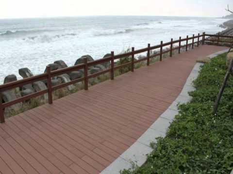 install wpc floor deck on grass
