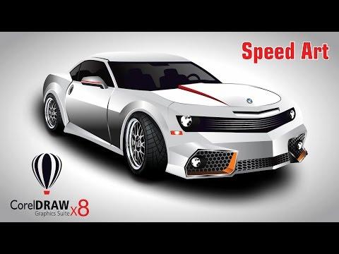 CorelDraw x8 Speed  Art BMW Car