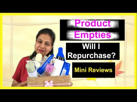 Product Empties 2018 |Will I Repurchase?Mini Reviews on Hair /Skin /Oral Care Products |Neha Beauty