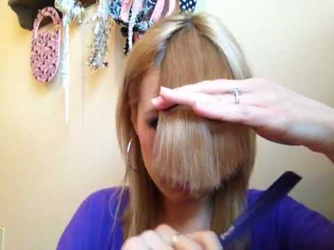How to Cut Perfect Side-Swept Bangs