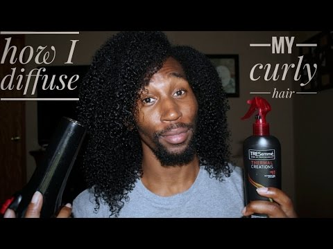 How to diffuse/dry Curly Hair