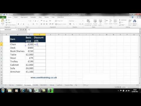 Learn how to use percentage in Excel