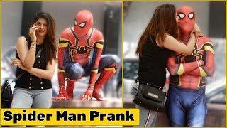 Spider Man Flirting with Cute Girls Prank   The HunGama Films