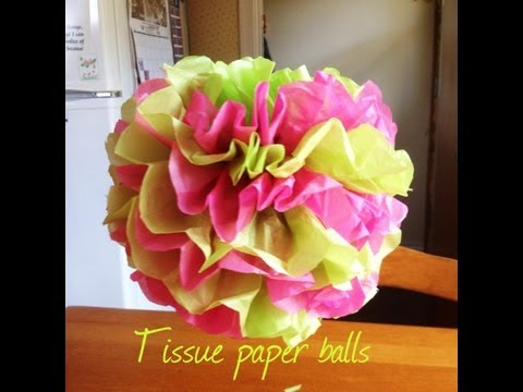 Tissue Paper Balls   Baby Shower On A Budget Mini Series