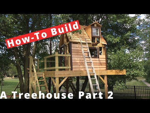 Building a Treehouse Part 2 - Walls, Railing and Windows