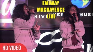 EMIWAY - MACHAYENGE LIVE Singing at Bandra  | Viralbollywood