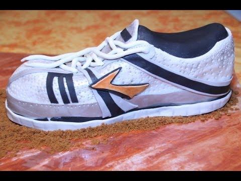 running shoe fondant cake