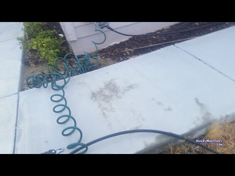 Easy Trick To Run Plumbing Conduit Drip Line Irrigation Water Hose Etc Under Concrete Walkway Path