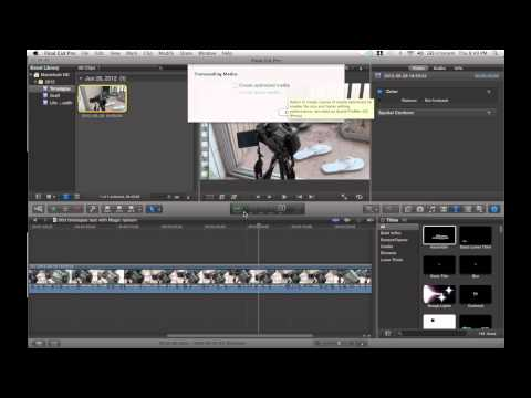 How to make Final Cut pro x work faster