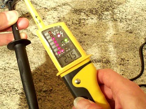 Test Time : Testing a socket for voltage.
