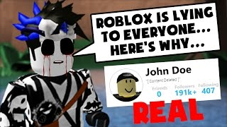 the ghost says roblox is lying to us about john doe robl