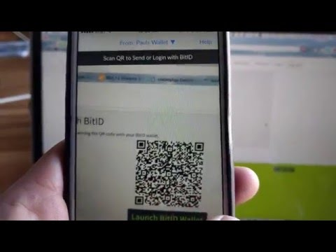 BitID demo for secure login on website with Airbitz